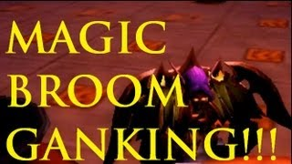 Haptik - Funny WoW Ganking Magic Broom Trick Tutorial / Prot Warrior Ganking Highlights