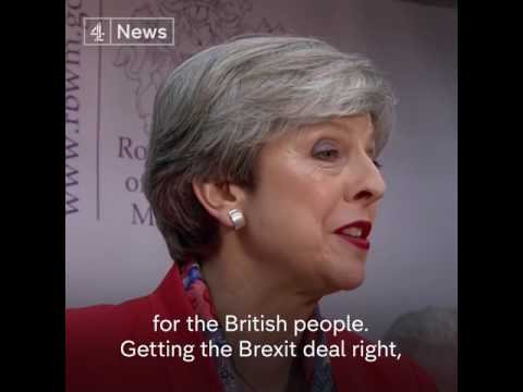 Theresa May speaks after holding her constituency