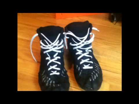 My Custom Wrestling Shoes - YouTube