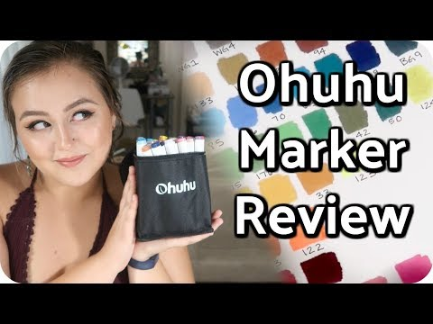 AMAZON FINDS: Ohuhu Marker Review - 40 Markers for $20??