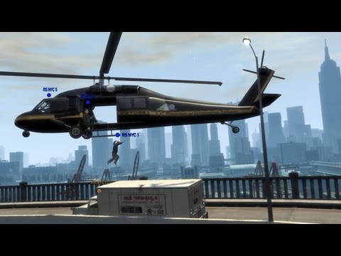 GTA IV Multiplayer Helicopter Crashes & Funny Stuff [HD]