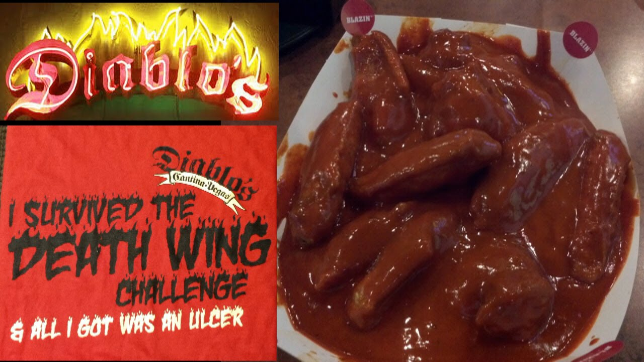 Diablo's 20 Death Wing Challenge (Ghost Pepper) w/ Juan More Bite ...