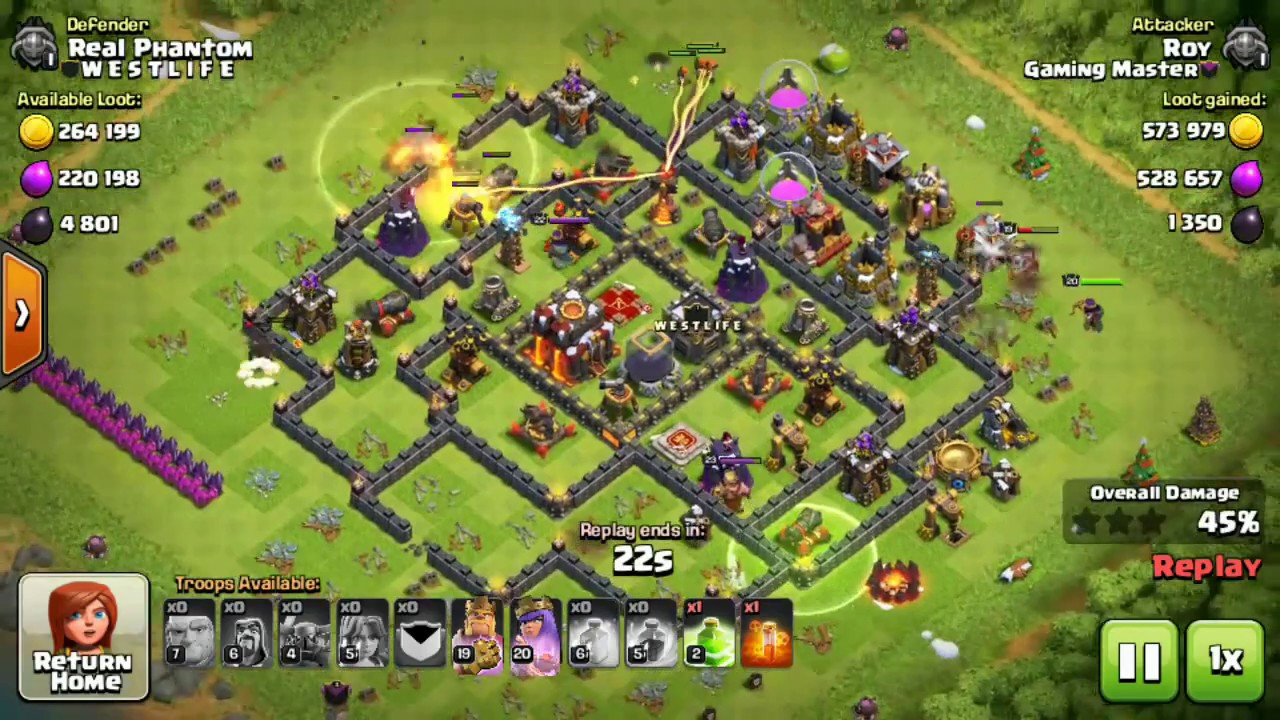 Best Th10 Attack Strategy 2020 Clash of clans ||TH10 ||Attack strategy of th10 ||giant +wizard +