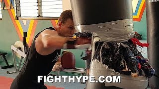 (WHOA!) JEFF HORN BUSTS A HEAVY BAG WIDE OPEN, LITERALLY; READY TO DO THE SAME TO ANTHONY MUNDINE