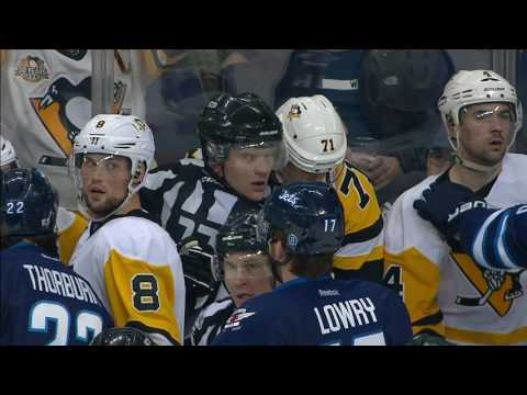 Lowry slapped with misconduct after taking down Malkin