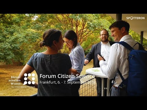 Forum Citizen Science | Frankfurt 2018 | Bürger schaffen Wis