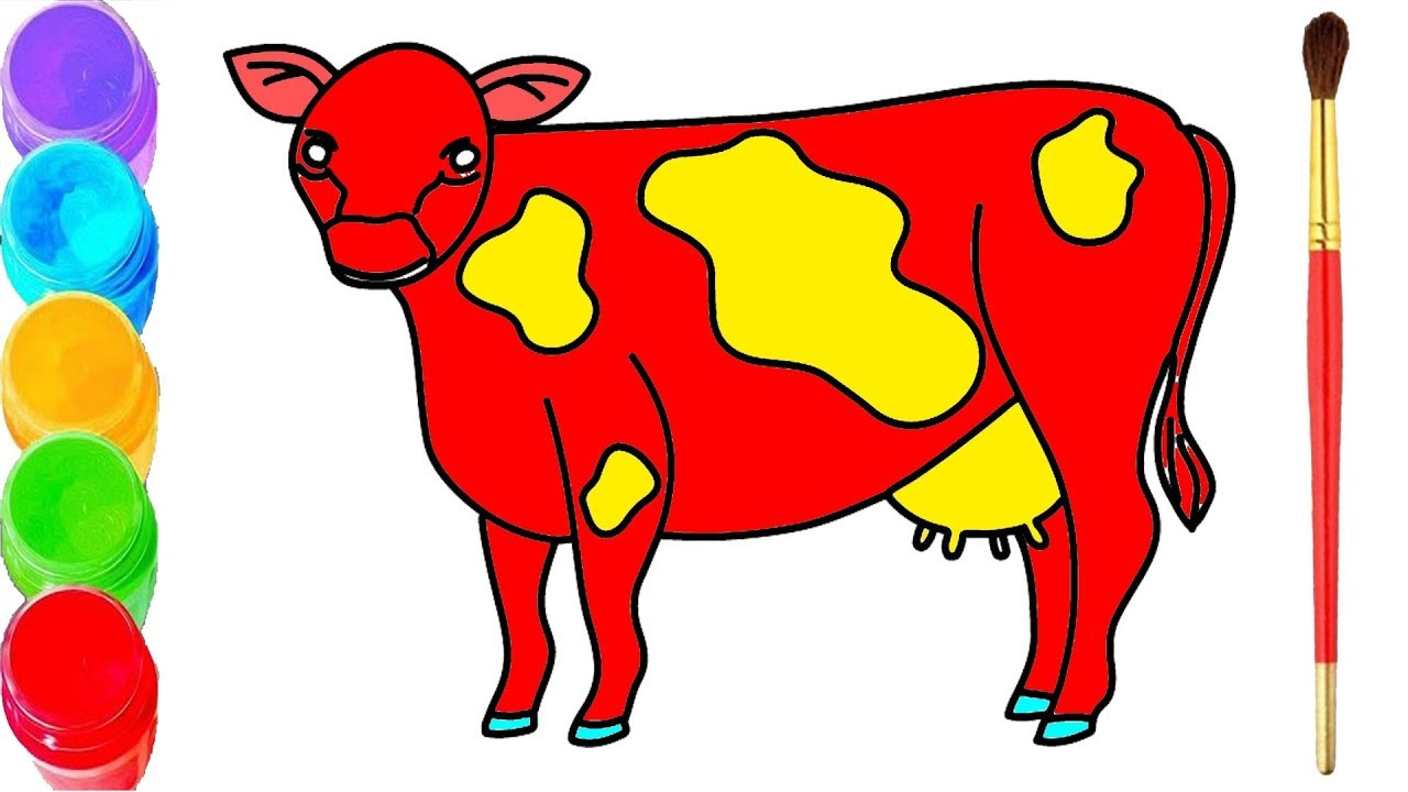 How To Draw Cow Cow Coloring Pages Drawing Cow Cow Coloring Page