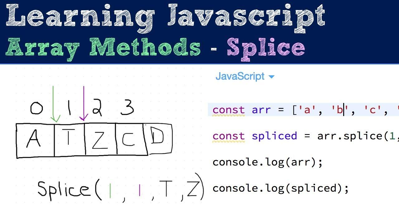 Splice - Array Methods - Javascript Tutorial - YouTube