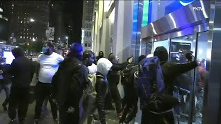 George Floyd protests: Fires set, windows smashed, stores looted in NYC after Day 4