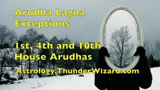 Arudha Lagna Exceptions: 1st, 4th, 7th and 10th Houses - Karmic Reasons of Arudha Lagna