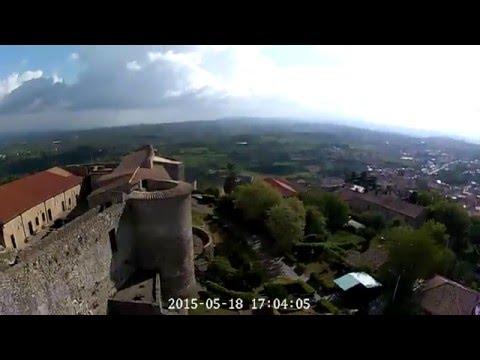 Ripresa aerea del castello di Vibo Valentia