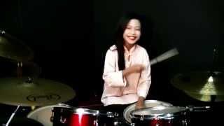 SENARIO - Joget Toleh Menoleh Drum Cover - Nur Amira Syahira