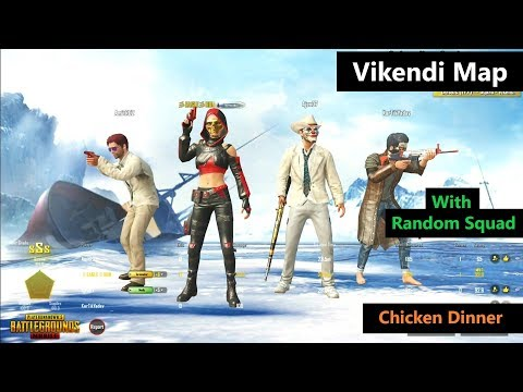[Hindi] PUBG Mobile | '22 Kills' In Squad With Random Players In Vikendi Map