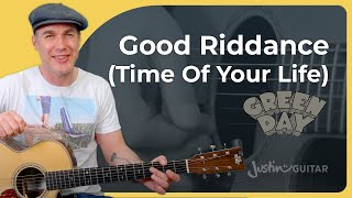 Play Good Riddance (Time of Your Life) by Green Day!   Guitar Lesson