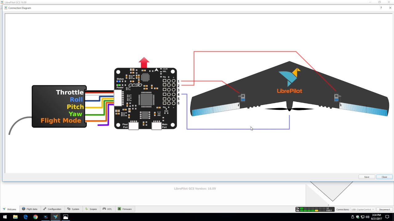 cc3d wiring diagrams adding cc3d to fixed wing youtube  adding cc3d to fixed wing youtube