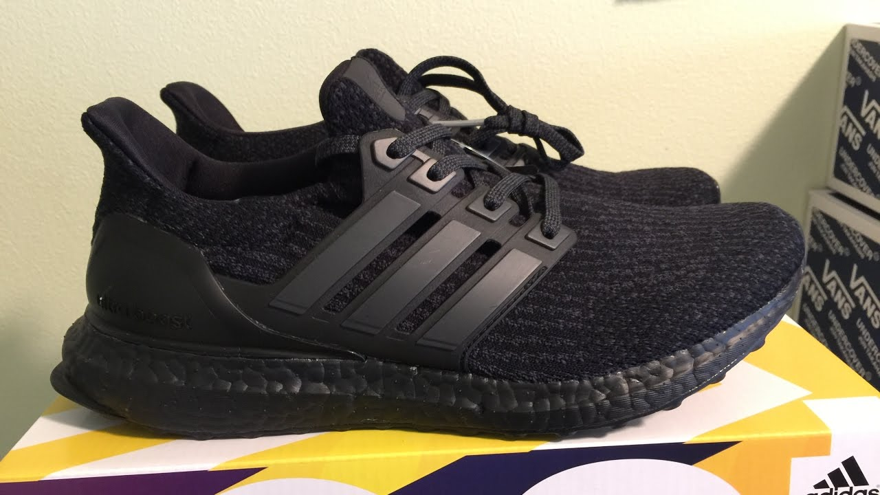 1b30ee9a5 ... denmark adidas ultra boost 3.0 triple black quick review 0ae7f 4f447