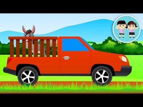 Animalele Domestice Si Camioneta Rosie - Ghiceste Animalele De La Ferma