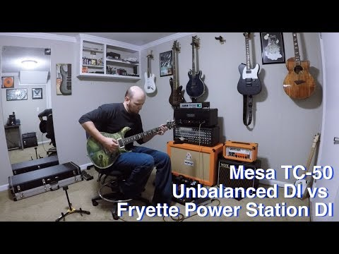 Mesa TC50 - Onboard DI vs Fryette Power Station DI