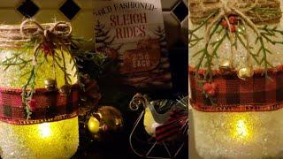 DIY Mason Jar Christmas Candle|Dollar Tree diy