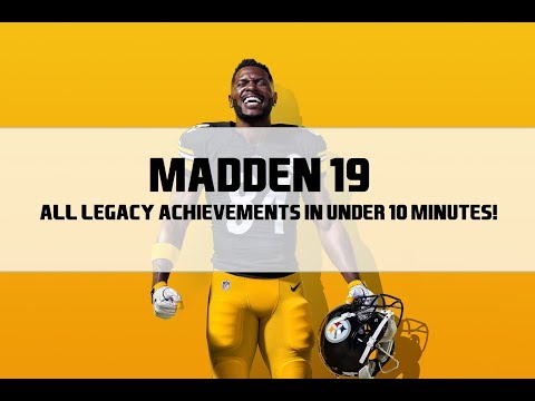 Madden NFL 19 -  All 10 Legacy Achievements/Trophies in Under 10 Minutes! (Original Creator)