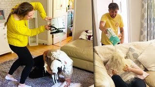CRAZIEST BROTHER VS SISTER PRANK WAR ON THE INTERNET!!!!