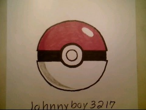 How to draw pokemon ball 3d easy step by step tutorial go pokeball iphone game