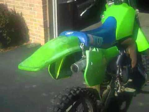 1986 kx 125 start up - YouTube