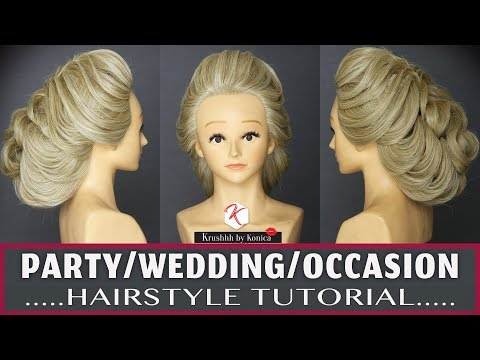 Wedding Hairstyle Tutorial 2018 | Step By Step Hairstyle Tutorial | Krushhh By Konica thumbnail