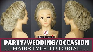 Wedding Hairstyle Tutorial 2018 | Step By Step Hairstyle Tutorial | Krushhh By Konica