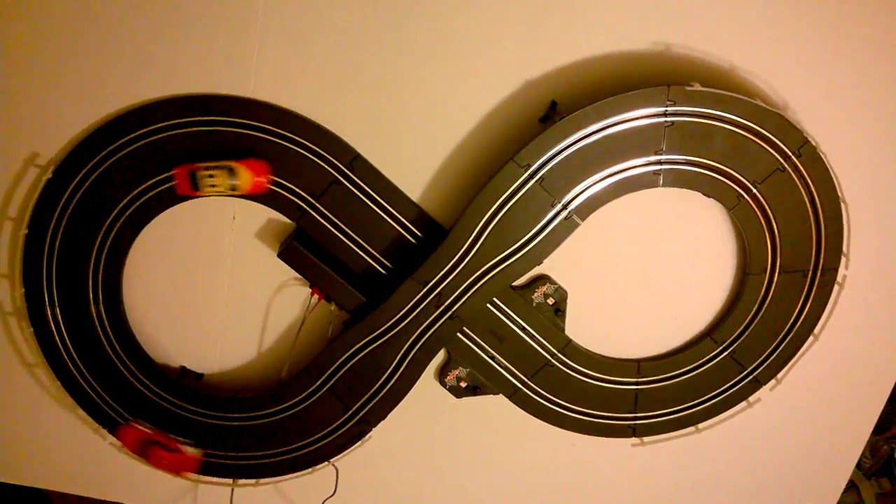 road racing slot car track set kid connection battery operated