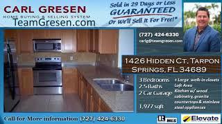 Spacious Home for sale 3beds 2.5 baths 2car garage-1426 Hidden Ct, Tarpon Springs,FL 34689