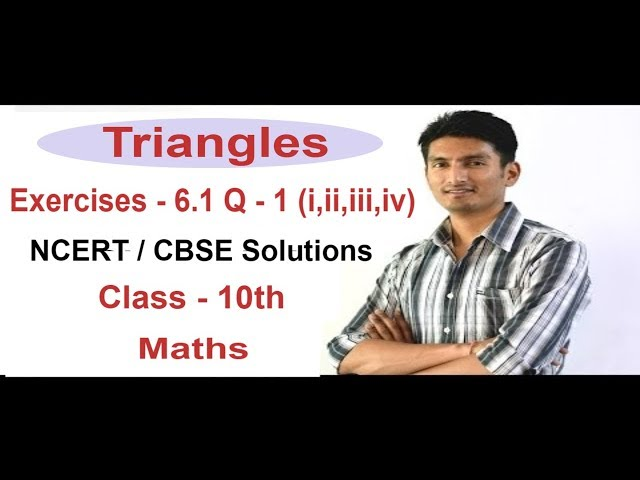 Exercise 6.1 Questions 1 (i,ii,iii,iv) - NCERT /CBSE Solutions for Class 10th Maths Triangles