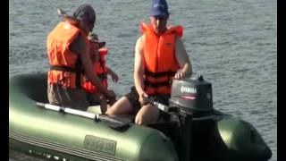 Семья на надувной лодке пвх DINGO 32F с мотором YAMAHA 5CMHS(DINGO - хит 2013 года, недорогая и супер-качественная лодка для рыбалки, разработанная в Петербурге крупнейшим..., 2013-05-07T13:07:39.000Z)