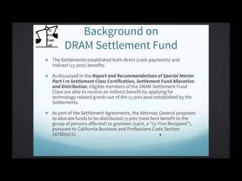 DRAM Settlement Fund webinar