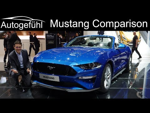 Ford Mustang . V Comparison: Bullitt vs Fastback vs Convertible Facelift - Autogefühl GIMS