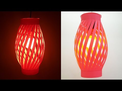 How to Make a Night Lamp out of Paper - DIY Paper Lamp (Pendant Light)