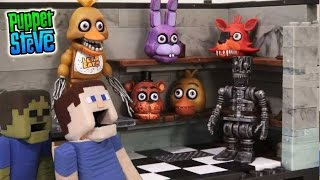 Five Nights at Freddy's fnaf BackStage McFarlane toys lego Minecraft construction set unboxing Chica