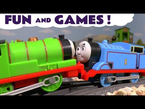 Thomas and Friends Fun and Games with Disney Cars Toys and Paw Patrol - Toy stories for kids TT4U