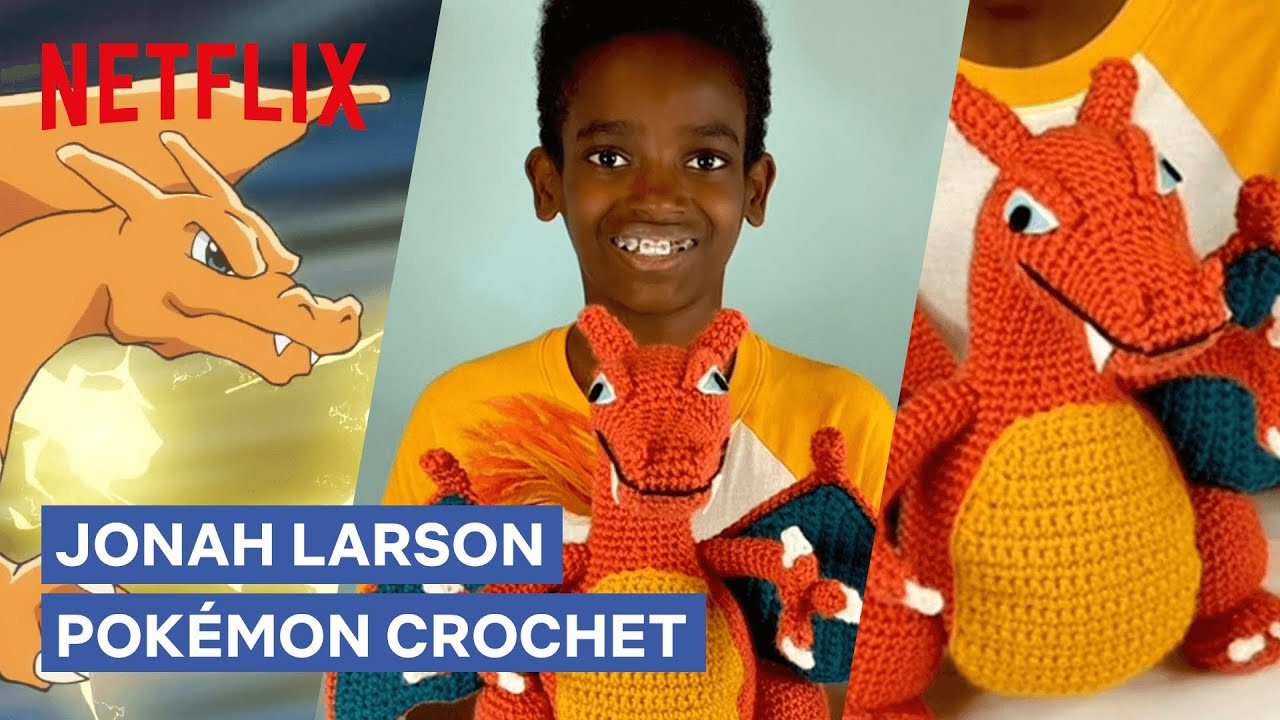 How to Crochet Charizard with Jonah Larson 🧶 Pokémon Journeys   Netflix Futures