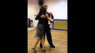 """Урок танго. Школа танцев """"Мартэ"""" (препадователь Аня)"""