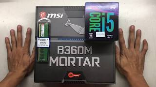 intel Core i5 8400 msi B360M MORTAR msi GEFORCE GTX1050Ti Thermaltake Litepower 650W