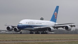 BIG Aircraft Take Off Amsterdam Schiphol Airport A380, B747, A330, B777, B787, B767