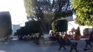 Cuerámaro Guanajuato Mx. plaza Manuel Doblado
