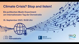 Climate Crisis? Stop and listen! - feat. Oliver Mascarenhas, Julian Scarcella, Ute Scheub