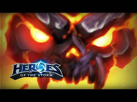 ♥ Heroes of the Storm (Gameplay) - Solo Lane Ragnaros