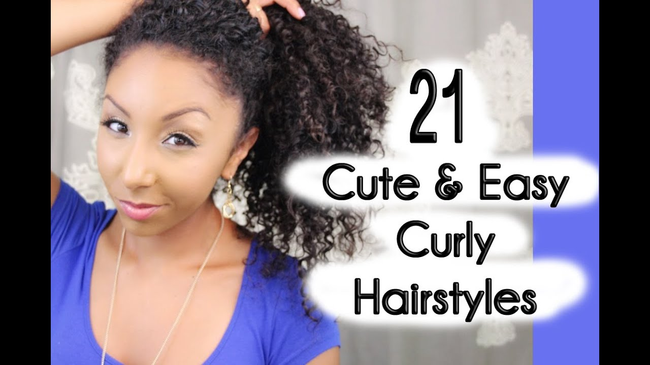 21 cute and easy curly hairstyles! | biancareneetoday - youtube