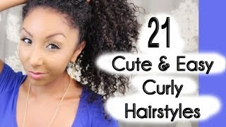 One of BiancaReneeToday's most viewed videos: 21 Cute and Easy Curly Hairstyles! | BiancaReneeToday