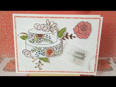 Sweet soiree birthday card mit Produkten von Stampin Up