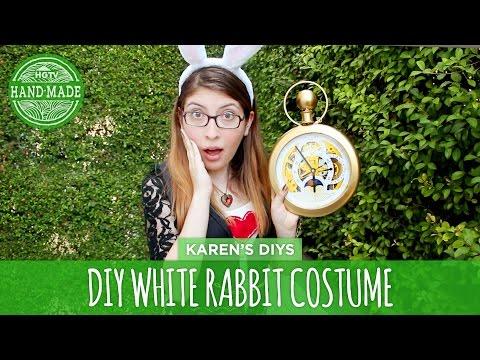 DIY White Rabbit Costume from Alice in Wonderland - HGTV Handmade