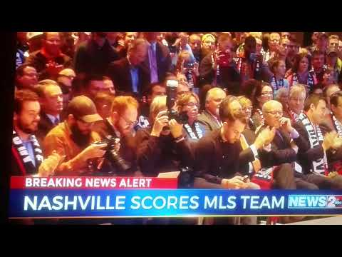 Major League Soccer Team - Nashville Gets MLS Team Announcement!!